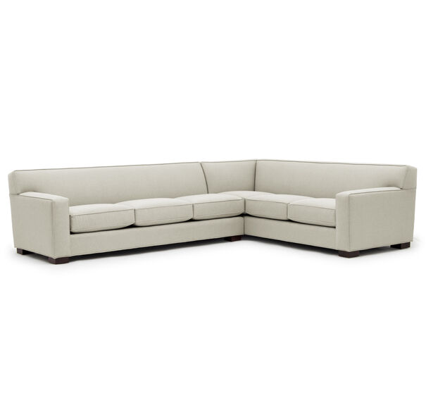 JEAN LUC LEFT SECTIONAL, Performance Textured pebble Weave - CREAM                             , hi-res