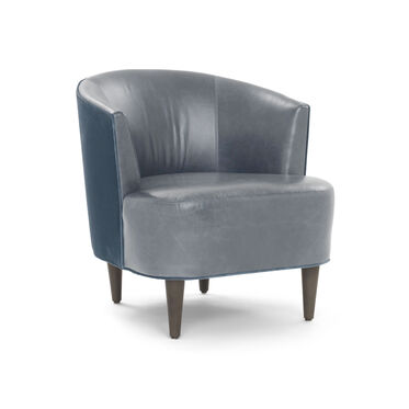 COSTELLO LEATHER CHAIR, MONT BLANC - IRON, hi-res