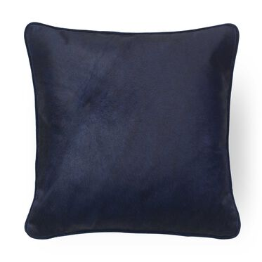 "SOLID HAIR-ON-HIDE SAPPHIRE 22"" PILLOW, , hi-res"