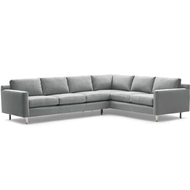 HUNTER STUDIO RIGHT SECTIONAL SOFA, PIPPIN - CHARCOAL, hi-res