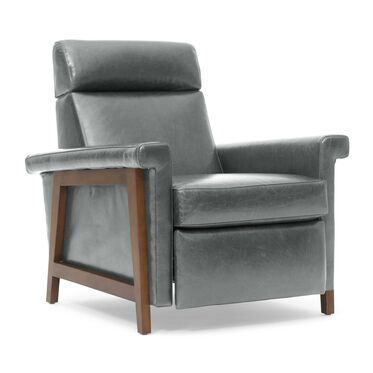 ARLEN ELECTRIC LEATHER RECLINER, MONT BLANC - WOLF, hi-res