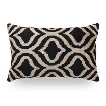 IKAT GEO ONYX THROW PILLOW, , hi-res
