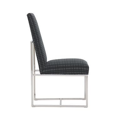 GAGE TALL SIDE  DINING CHAIR, DOT DASH - GRAPHITE, hi-res