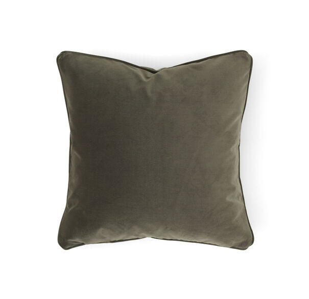 "VELVET 17"" x 17"" WELT ACCENT PILLOW, VIVID - FERN, hi-res"