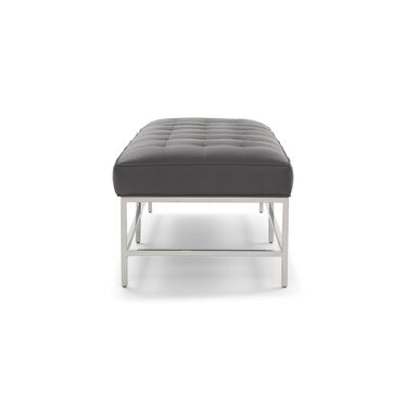 MAJOR LEATHER BENCH OTTOMAN, VANCE - LEAD, hi-res