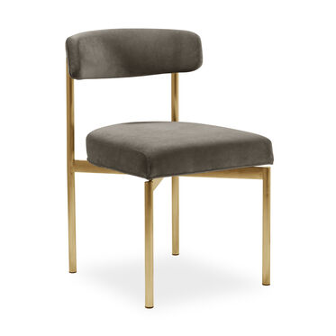 REMY DINING CHAIR - BRUSHED BRASS, BOULEVARD - CAFE, hi-res