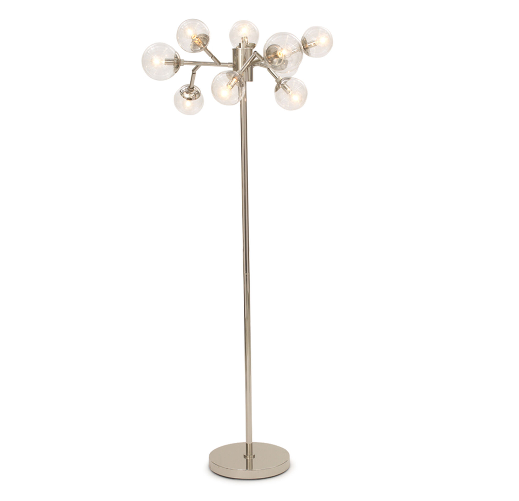 SAVOY FLOOR LAMP - POLISHED NICKEL