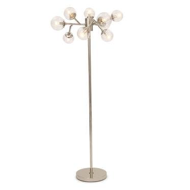 SAVOY FLOOR LAMP - POLISHED NICKEL, , hi-res