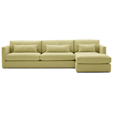HAYWOOD RIGHT CHAISE SECTIONAL, SOL - CHARTREUSE, hi-res