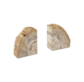 PETRIFIED WOOD BOOKENDS, , hi-res
