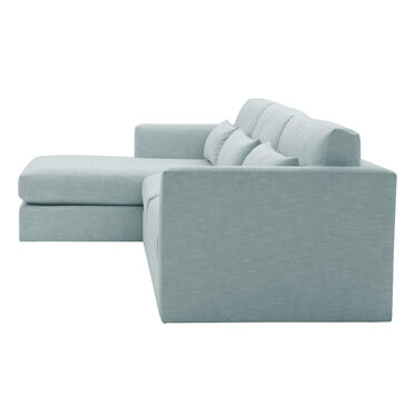 HAYWOOD LEFT CHAISE SECTIONAL, SOL - SKY BLUE, hi-res