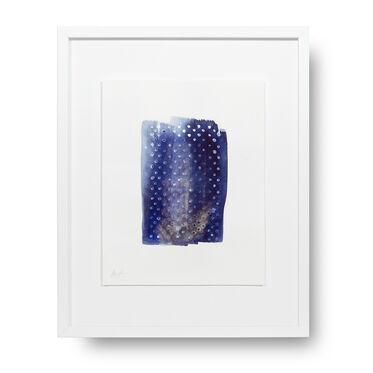 DIAMOND INDIGO DOT STORY WALL ART, , hi-res