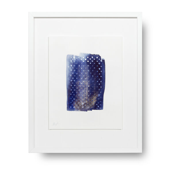 DIAMOND INDIGO DOT STORY WALL ART, , hi-res