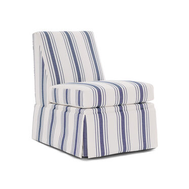 ANNIE SKIRTED CHAIR, SALVADOR - INDIGO, hi-res