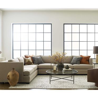 KEATON SHELTER RIGHT ARM SECTIONAL CLASSIC DEPTH WITH NAILHEAD, FULMER - TAUPE, hi-res
