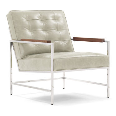 MAJOR LEATHER ARM CHAIR, MONT BLANC - IVORY, hi-res