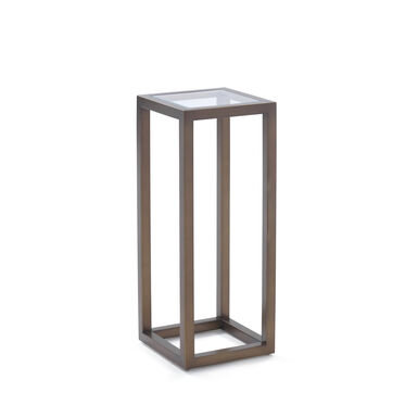 PERCH DISPLAY PEDESTAL - PEWTER, , hi-res
