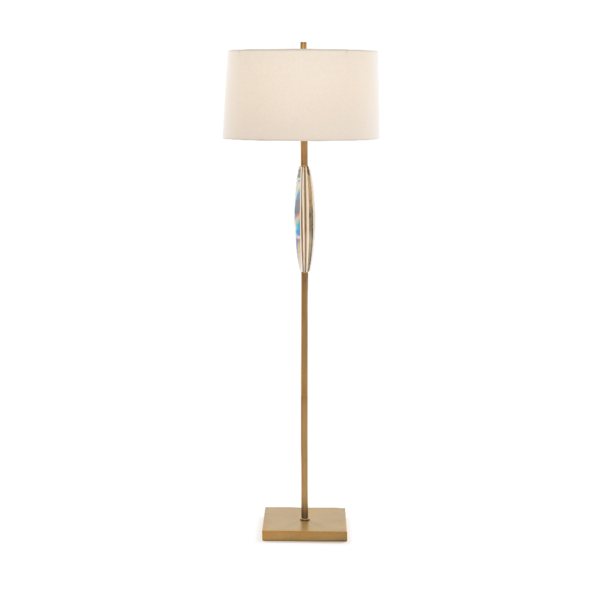Perla floor lamp vintage brass with champagne crystal aloadofball Choice Image