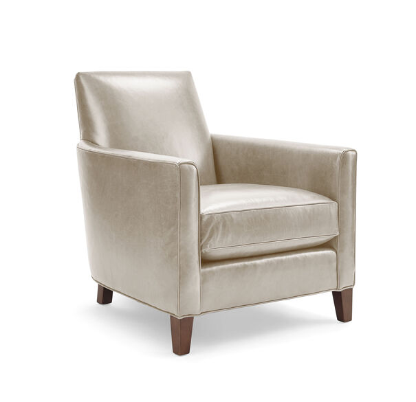 AIDEN LEATHER CHAIR, MONT BLANC - IVORY, hi-res