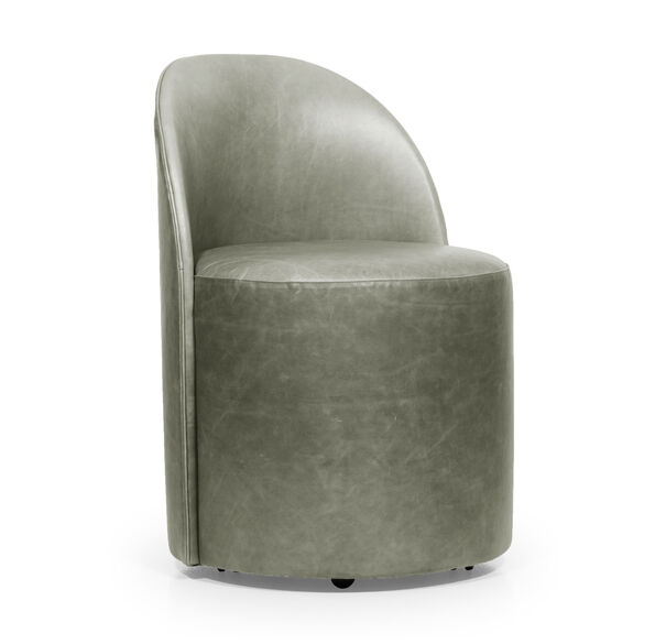 MARGAUX LEATHER SIDE CHAIR, MONT BLANC - FERN, hi-res