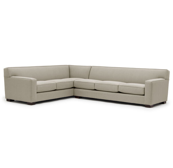 JEAN LUC RIGHT SECTIONAL, Performance Textured pebble Weave - FLAX, hi-res