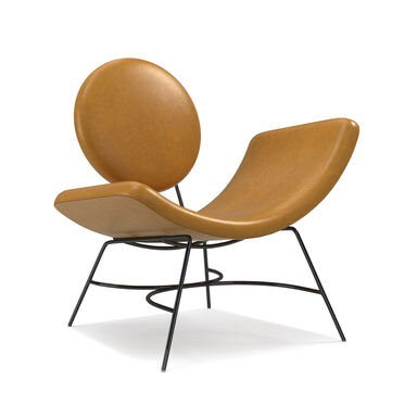 ELROY LEATHER RIGHT ARM CHAIR, MONT BLANC - FAWN, hi-res