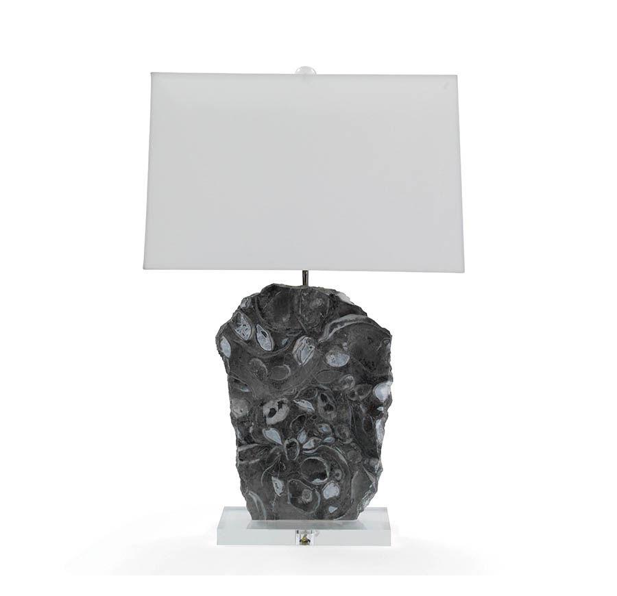 Elegant MORAN GRAY MARBLE TABLE LAMP, , Hi Res