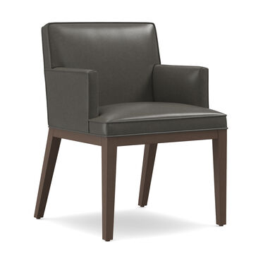 CAMERON LEATHER ARM DINING CHAIR, MANCHESTER - GRAPHIT, hi-res