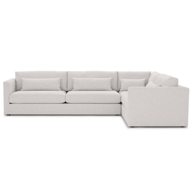 HAYWOOD LEFT ARM SECTIONAL, SOL - SILVER, hi-res