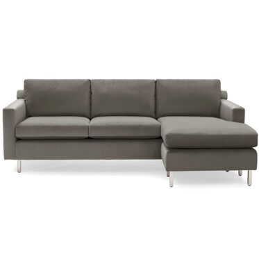 HUNTER STUDIO NO WELT 85 RIGHT CHAISE SECTIONAL, PIPPIN - MINK, hi-res
