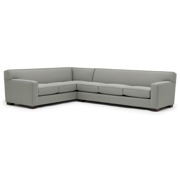 JEAN LUC RIGHT SECTIONAL, Performance Textured pebble Weave - STEEL                             , hi-res