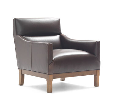 BROOKS LEATHER CHAIR, , hi-res