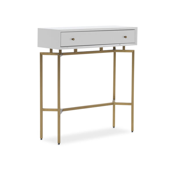 MING CONSOLE - WHITE / BRASS, , hi-res