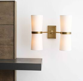 OLIVE DOUBLE SCONCE, , hi-res