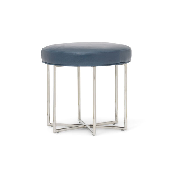 ASTRA LEATHER PULL-UP STOOL, MONT BLANC - IRON, hi-res