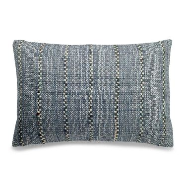 INDIGO STRIPES TEXTURED 14 X 22 PILLOW, , hi-res