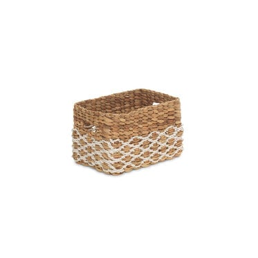 SMALL RECTANGULAR WOVEN BASKET, , hi-res