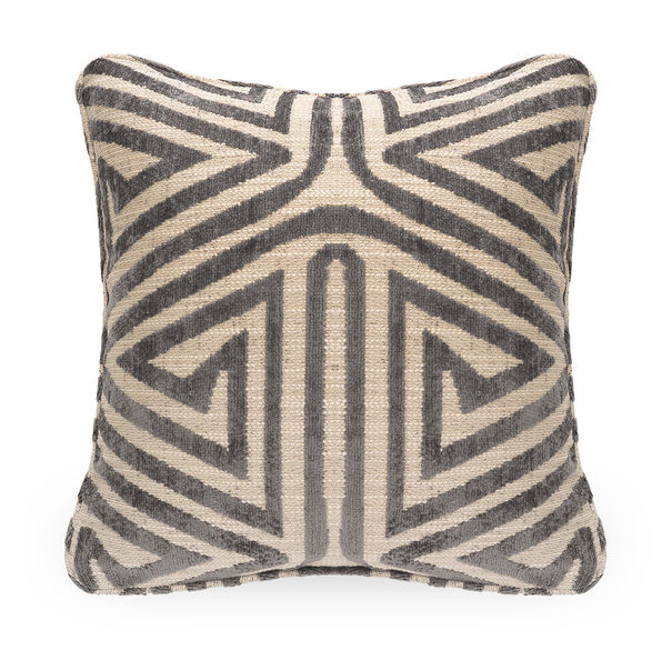 21 IN. SQUARE THROW PILLOW, CULLEN - STEEL, hi-res