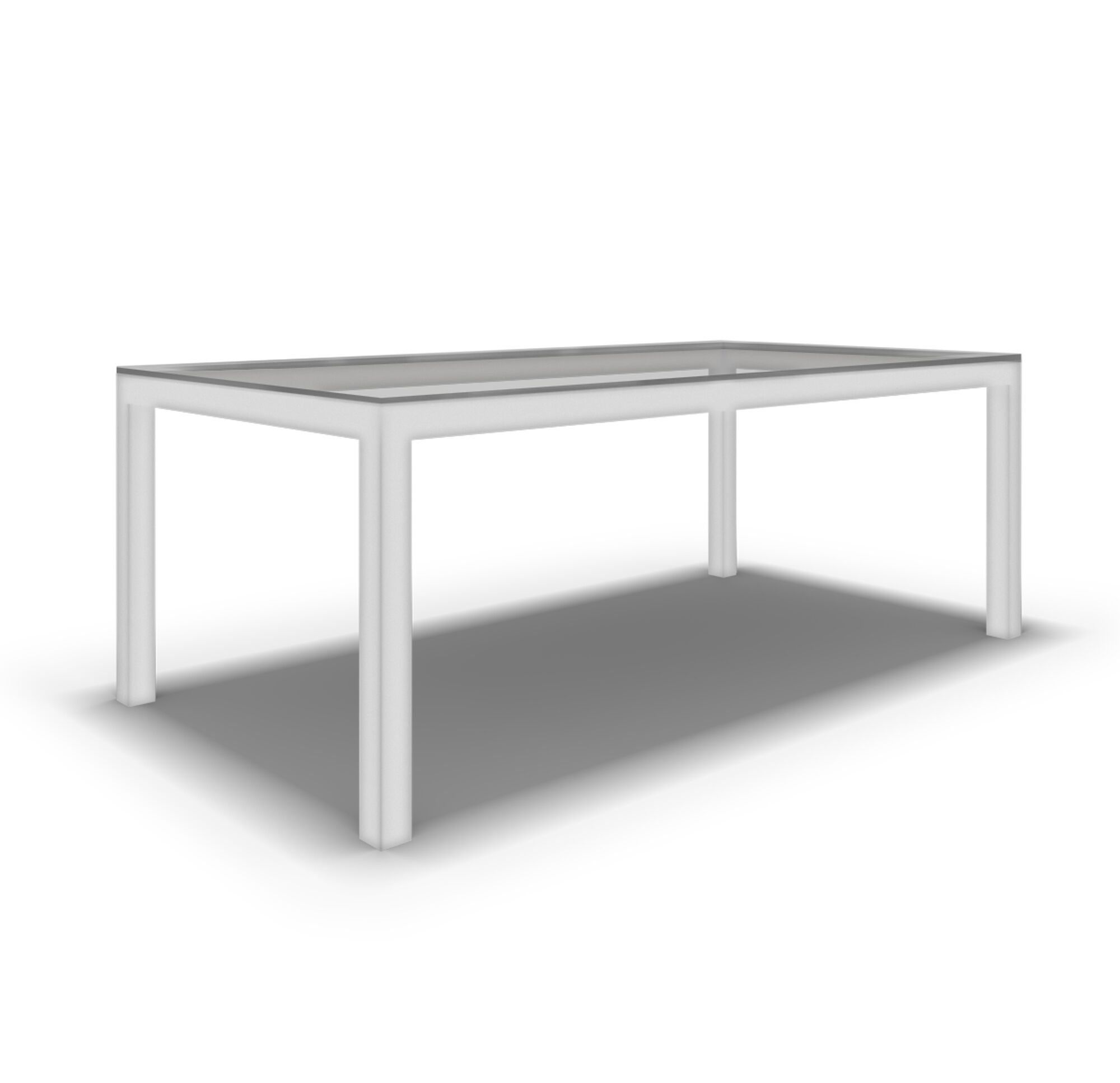 CLASSIC PARSONS DINING TABLE POWDER WHITE