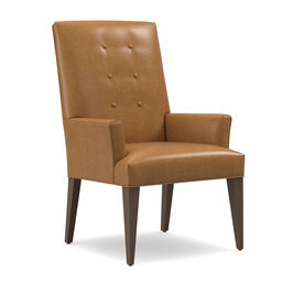 OLIVER LEATHER TALL ARM DINING CHAIR, MUSKOGEE - OAK, hi-res