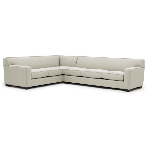 JEAN LUC RIGHT SECTIONAL, Performance Textured pebble Weave - CREAM                             , hi-res