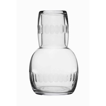 VINTAGE INSPIRED CARAFE SET - LENS PATTERN, , hi-res