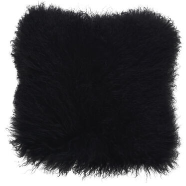 TIBETAN WOOL BLACK 16 IN. SQUARE THROW PILLOW, , hi-res