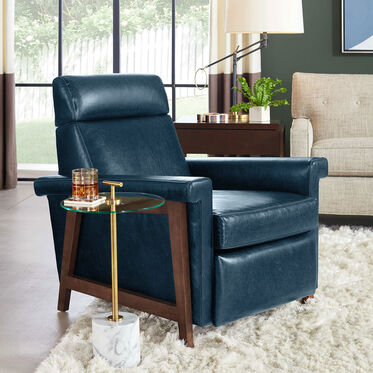 ARLEN LEATHER RECLINER, MONT BLANC - MOUNTAIN SPRING, hi-res