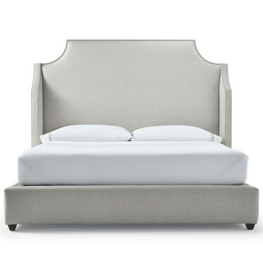 MIRABELLE TALL KING FLOATING RAIL BED, DUNHAM - SILVER SAND, hi-res