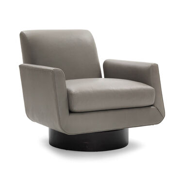 SUPERNOVA LEATHER RETURN SWIVEL CHAIR, VANCE - DRIFTWOOD, hi-res