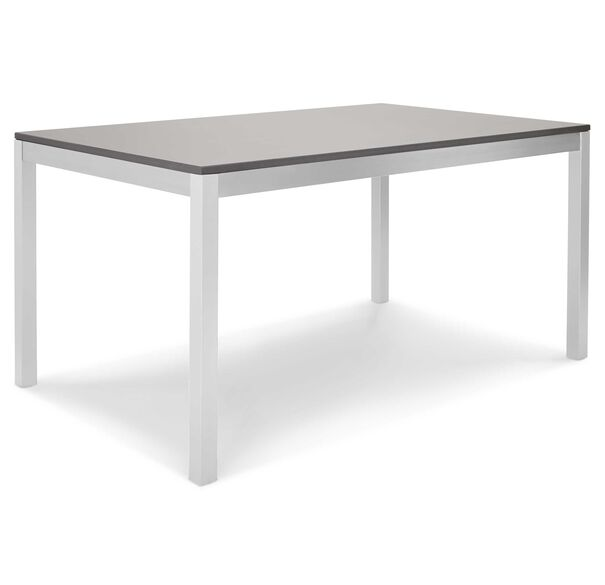 ESSENTIAL PARSONS DINING TABLE - POLISHED STAINLESS STEEL, , hi-res