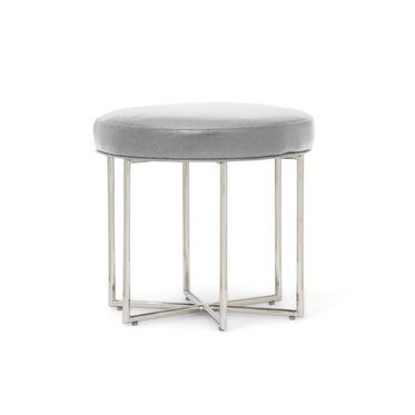 ASTRA LEATHER PULL-UP STOOL, MONT BLANC - MIST, hi-res