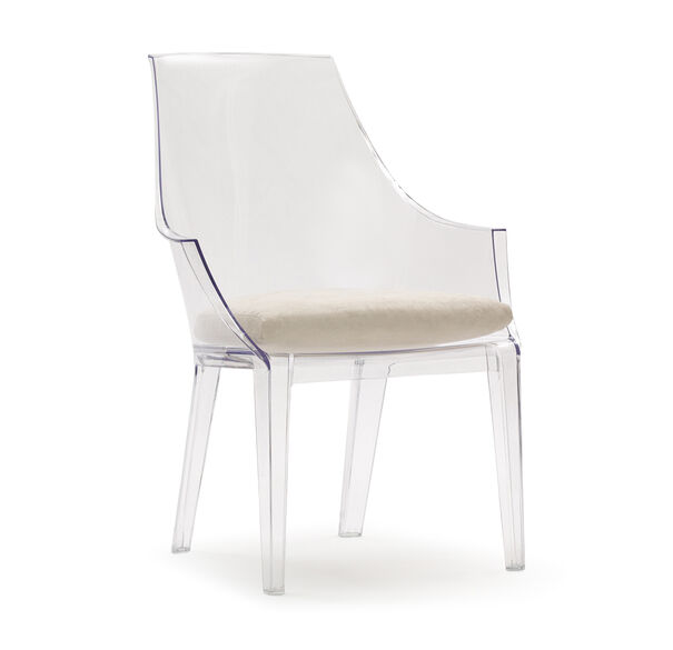 CLAIR CLEAR CHAIR SOFT SUEDE - STONE, , hi-res