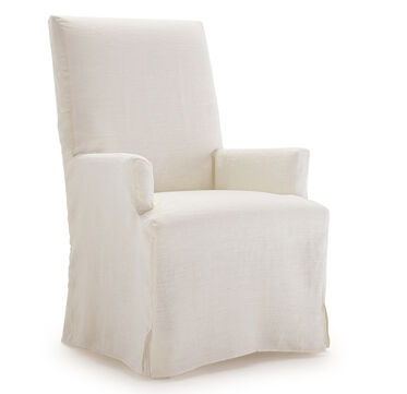 JULIA TALL ARM DINING CHAIR - SLIPCOVER, , hi-res